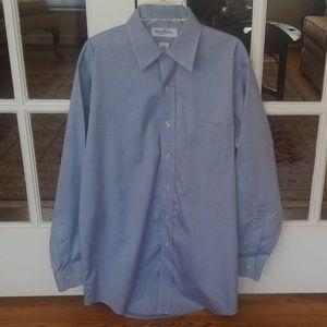 Mens Brooks Brothers blue dress shirt 15-32